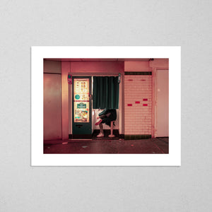 Photomaton in Paris, cinematic street photography fine art giclée print on Hahnemühle Pearl paper by Adrian Wojtas