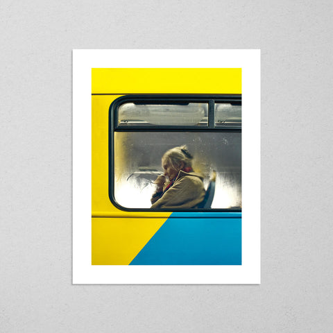 Dublin Bus #2, moody and cinematic photography fine art giclée print on Hahnemühle Pearl paper by Adrian Wojtas
