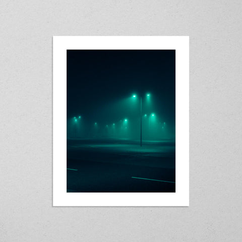 There Is No Night #1, moody and cinematic photography fine art giclée print on Hahnemühle Pearl paper by Adrian Wojtas