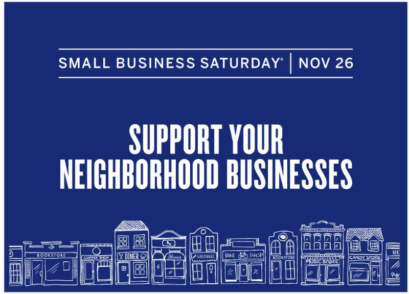 Small Business Saturday NOV 26