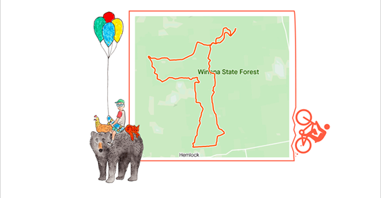 Grandfather to ride 24-hours in Winona State Forest