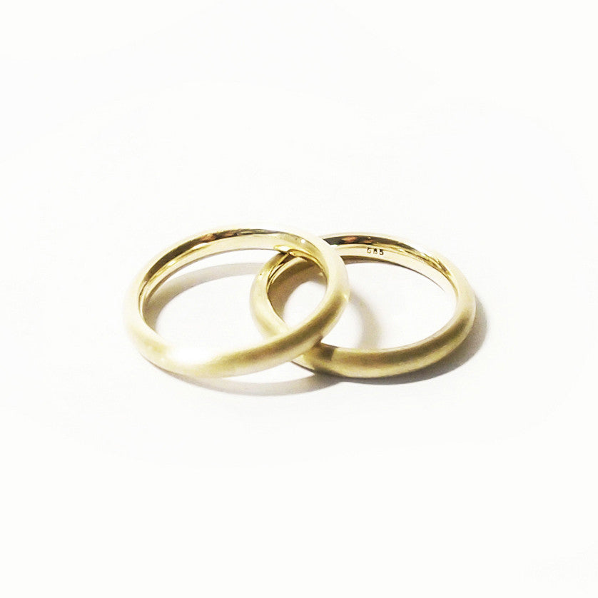 14 kt Yellow Gold rings