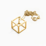 CUBE necklace XS gold-plated
