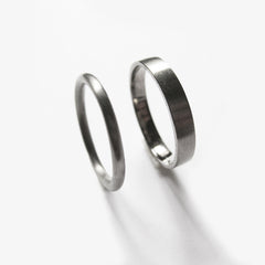 14 kt White Gold rings