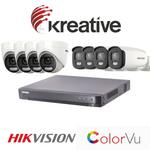 HIKVISION ColurVu 5MP CCTV Kit 8 Camera's