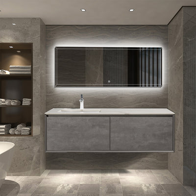 Wall Hung Bathroom Vanity with Quartz Top & Ceramic Sink - TONA Freda
