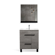 Freestanding Bathroom Vanity with Faux Marble Integrated Top&Sink - TONA Gill