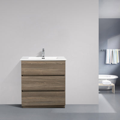 Freestanding Bathroom Vanity with Artificial Stone Integrated Top&Sink - TONA Edison