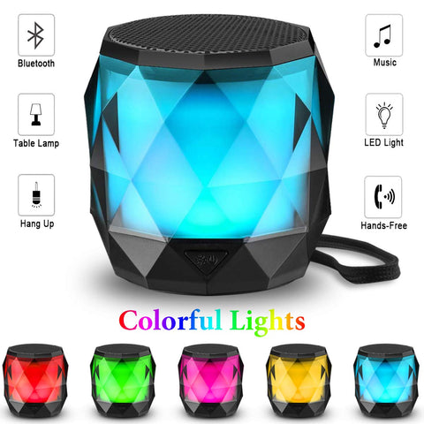 LED Bluetooth Speaker,LFS Night Light Wireless Speaker