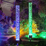 CGN Garden Solar Lights Outdoor Solar Acrylic Bubble RGB