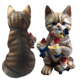 Mark & Margot - Mischievous Cat Garden Gnome Statue Figurine