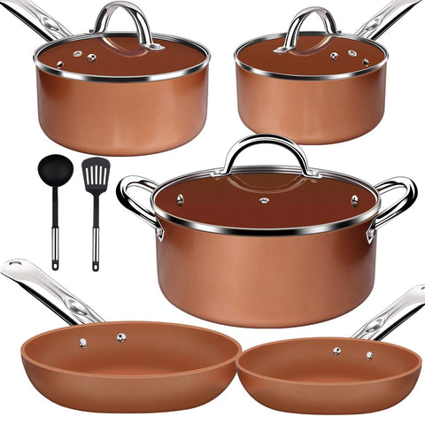 Aluminum Cooking Pots and Pans Set (10 pcs)