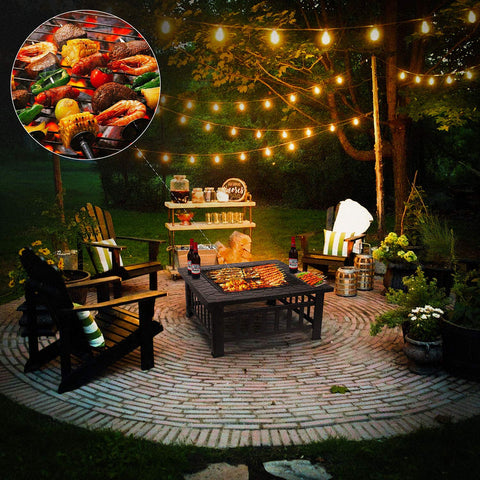 Femor 32'' Fire Pit Table Outdoor, Multifunctional For Patio Backyard Garden