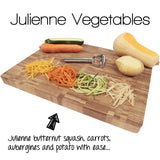 Precision Kitchenware - Ultra Sharp Stainless Steel Dual Julienne & Vegetable Peeler
