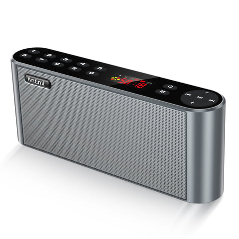 Antimi Bluetooth Speaker,FM Radio Player,MP3 Player Stereo Portable Wireless Speaker Driver