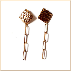 BOUCLES D'OREILLES maille rectangle