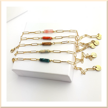 Charger l'image dans la galerie, New > 𝑪𝒐𝒍𝒍𝒆𝒄𝒕𝒊𝒐𝒏 𝐀𝐍𝐍𝐀 BRACELET Acier inoxydable maille rectangle pierre HEISHI