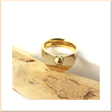 Load image into Gallery viewer, 𝑪𝒐𝒍𝒍𝒆𝒄𝒕𝒊𝒐𝒏 𝐓𝐄𝐓𝐑𝐀 BAGUE en acier inoxydable doré