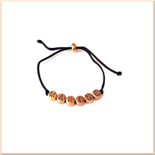 Load image into Gallery viewer, 𝑪𝒐𝒍𝒍𝒆𝒄𝒕𝒊𝒐𝒏 𝐍𝐎𝐔𝐒 BRACELET cordon lettres prénom en laiton - Personnalisable