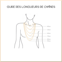 Charger l'image dans la galerie, 𝑪𝒐𝒍𝒍𝒆𝒄𝒕𝒊𝒐𝒏 𝐀𝐍𝐍𝐀 COLLIER  maille rectangle pampille ÉTOILE