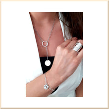 Charger l'image dans la galerie, 𝑪𝒐𝒍𝒍𝒆𝒄𝒕𝒊𝒐𝒏 𝐀𝐍𝐍𝐀 COLLIER maille rectangle pampille