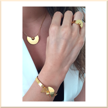 Load image into Gallery viewer, 𝑪𝒐𝒍𝒍𝒆𝒄𝒕𝒊𝒐𝒏 𝐓𝐄𝐓𝐑𝐀 BRACELET jonc en acier inoxydable doré