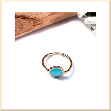Laden Sie das Bild in den Galerie-Viewer, 𝑪𝒐𝒍𝒍𝒆𝒄𝒕𝒊𝒐𝒏 BAGUE fine en Plaqué Or pierre turquoise