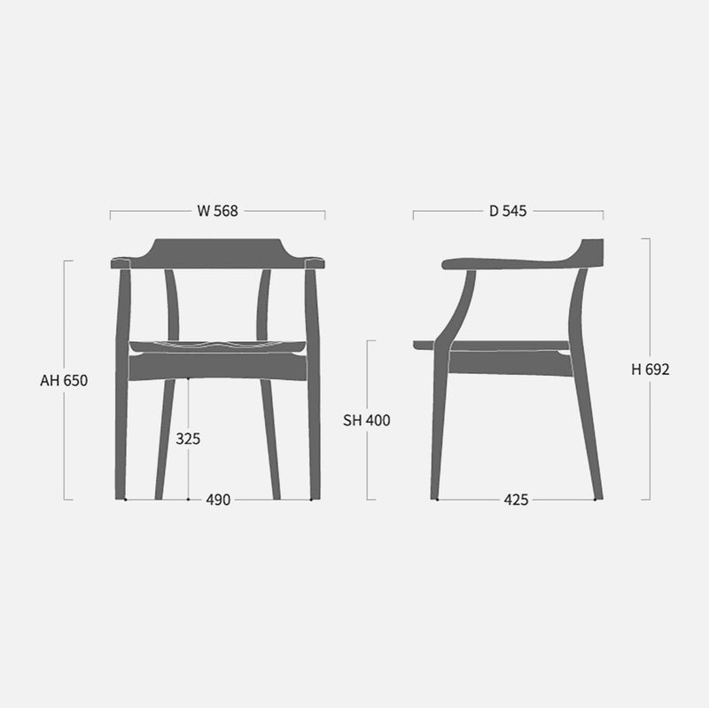 Sign Arm Chair Wide