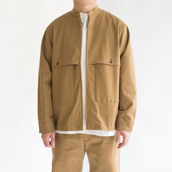Brushed Stretch Twill Zip Work Jkt