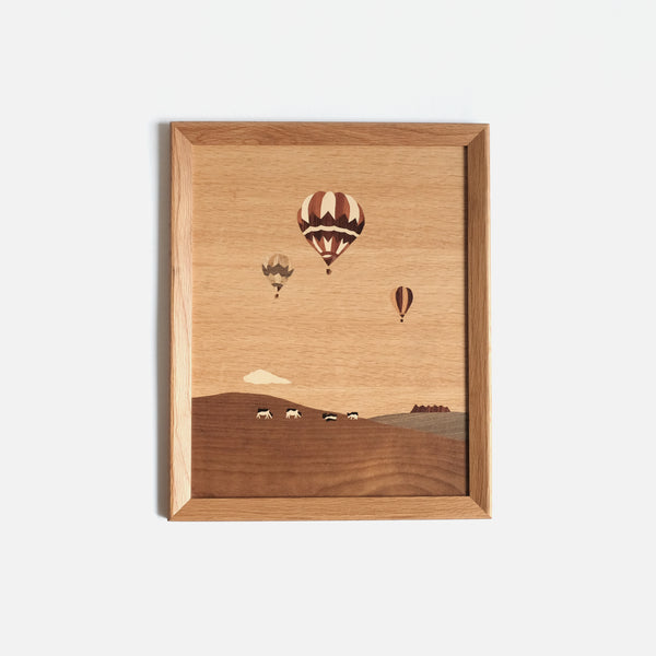 Balloon and Cow Inlay Wall Art