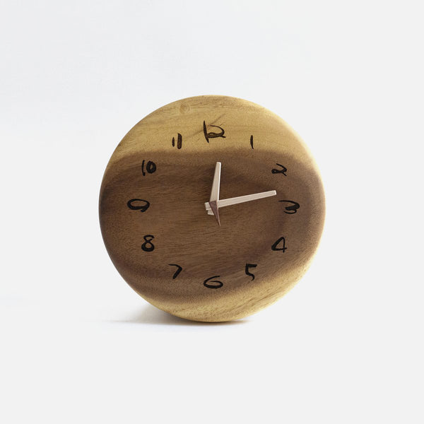 Wooden Round Clock Monkey 15