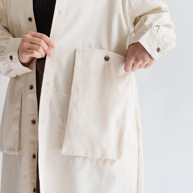 Organic Cotton Canvas Shirt Coat