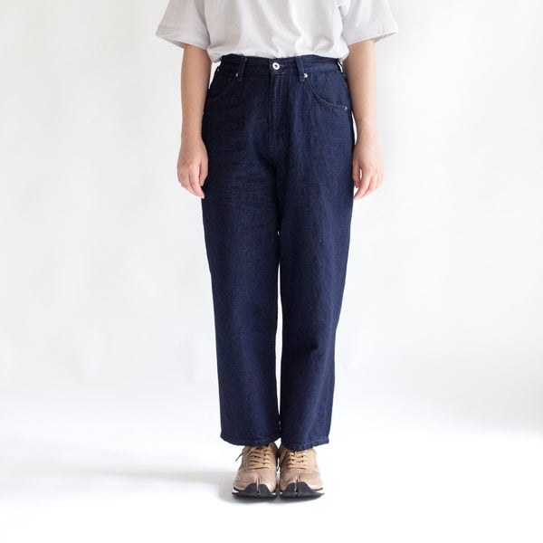 Linen Denim High Rise Pants