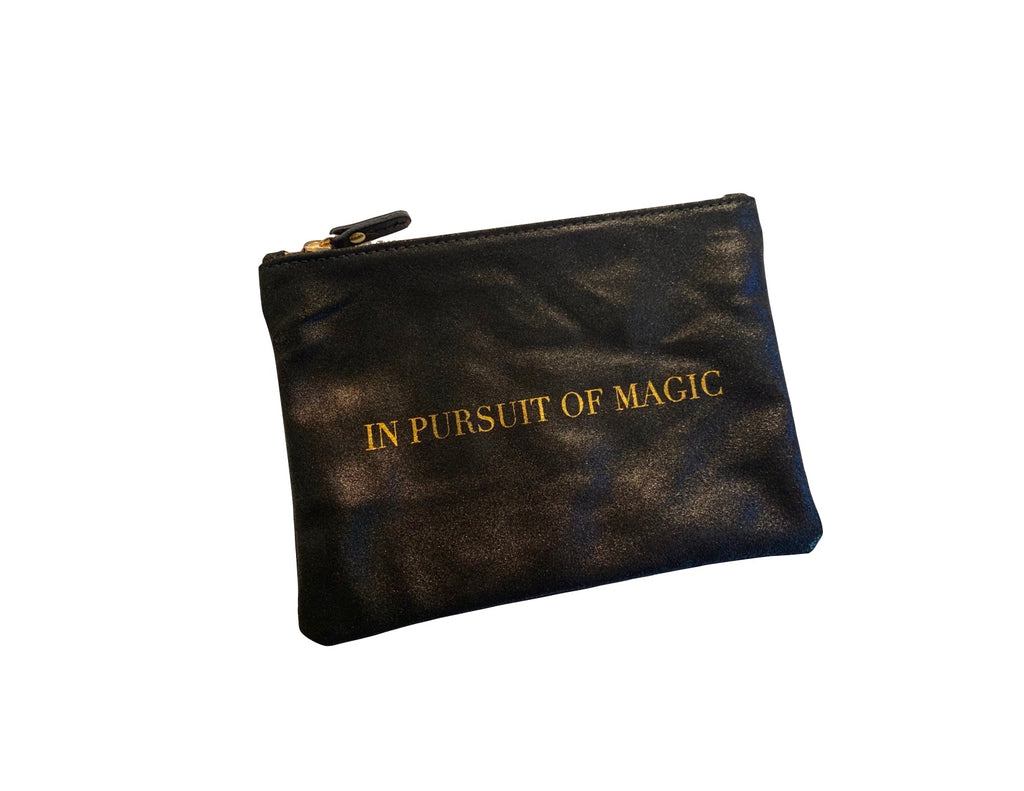 In Pursuit Of Magic Brushed Leather Pouch