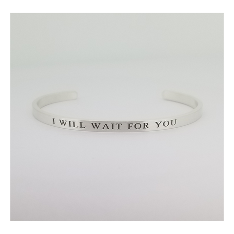I WILL WAIT STERLING SILVER CUFF BRACELET