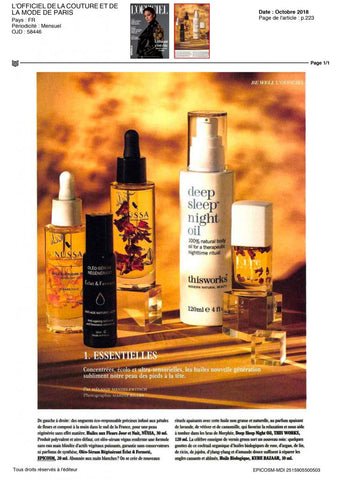 Epicosm oil for dehydrated skin
