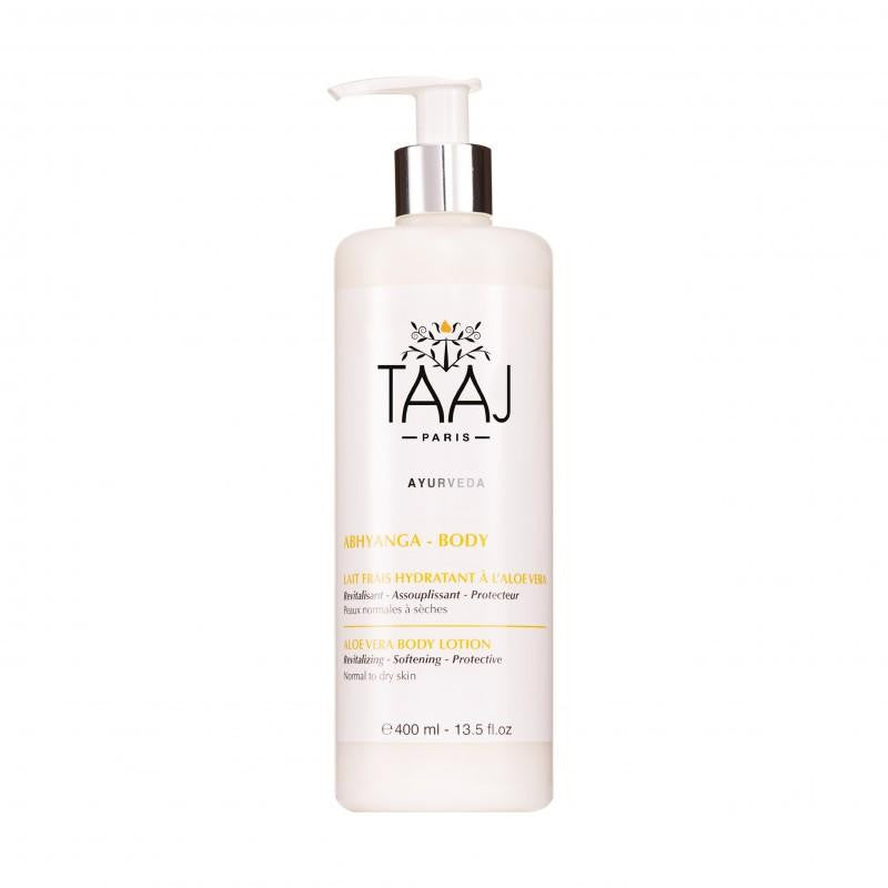 TAAJ Paris - Natural Body Lotion Aloe Vera - Rich in Hyaluronic Acid, Camelia Oil