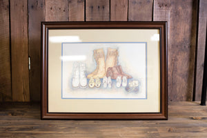Framed Moccasin Picture