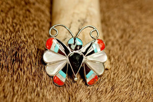 Butterfly Inlay Pin/Pendant