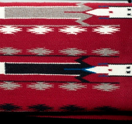 Red, Black Navajo Rug