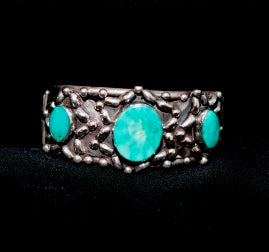 Silver, turquoise bracelet