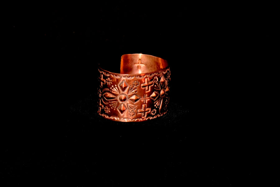 Copper Bracelet with Diamond Shape Cross