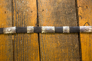Leather Belt with Sterling Silver Conchos