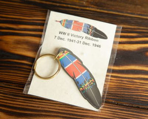 World War II Service Ribbon Keychain