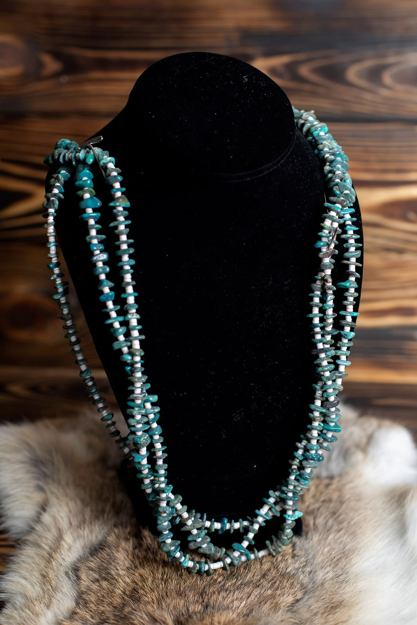 Turquoise/Heshi Three Layer Necklace