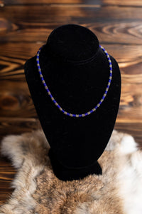 Lapis and Sterling Silver Bead Necklace
