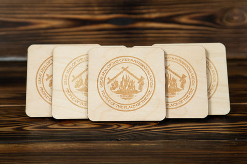 Wood CPN Coaster set