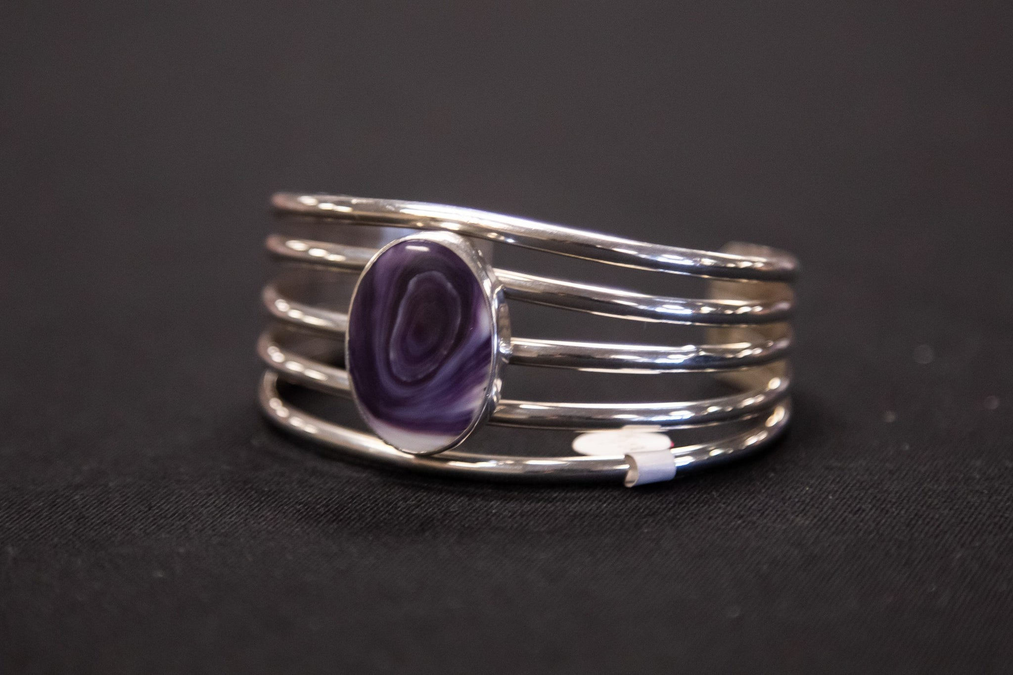 Purple Charoite Statement Bracelet