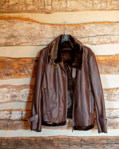 Women's Bomber Jacket-Brown