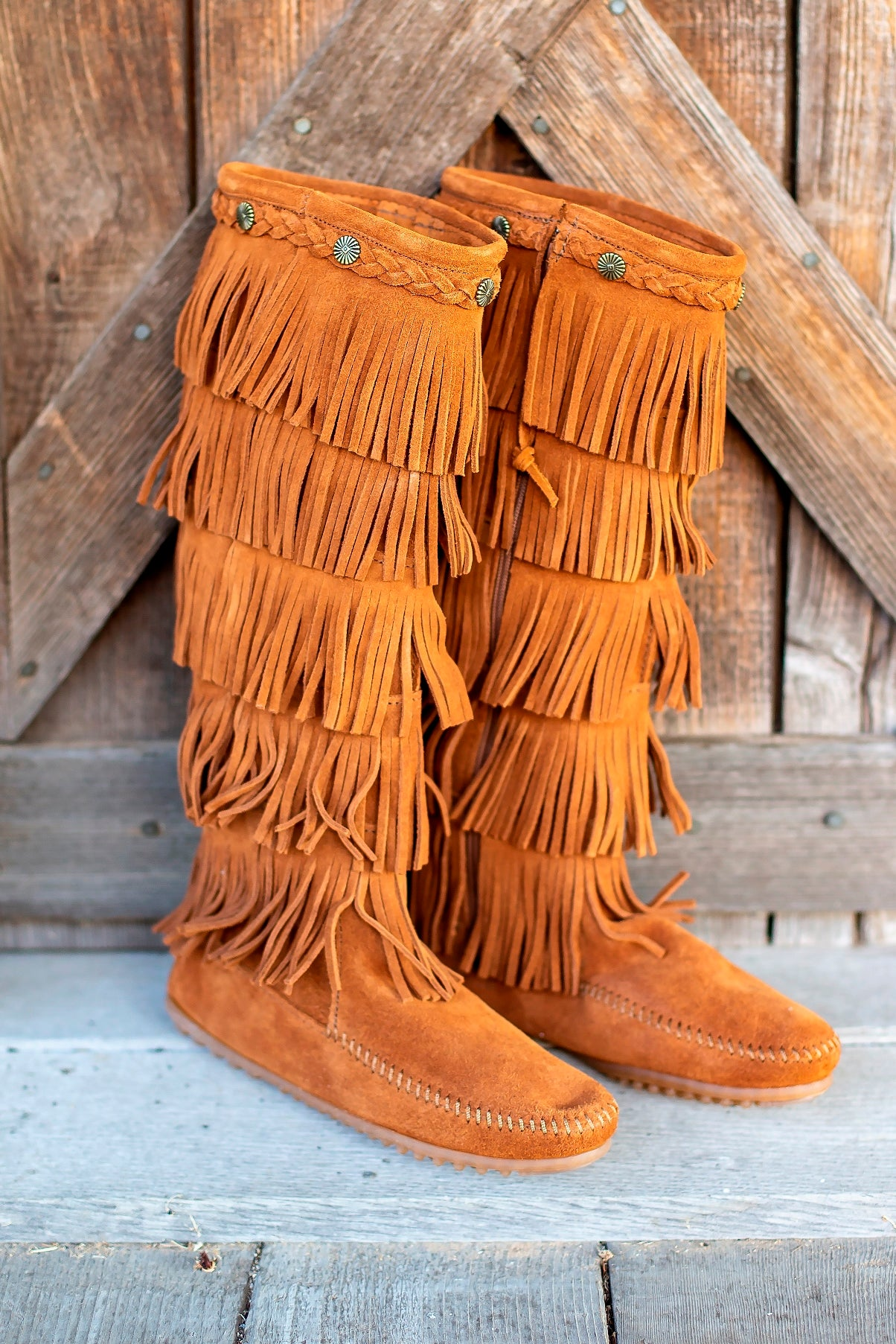 5-Layer Fringe Boot